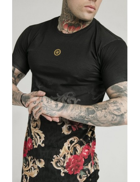 SIKSILK X DANI ALVES S/S CURVED T-SHIRT