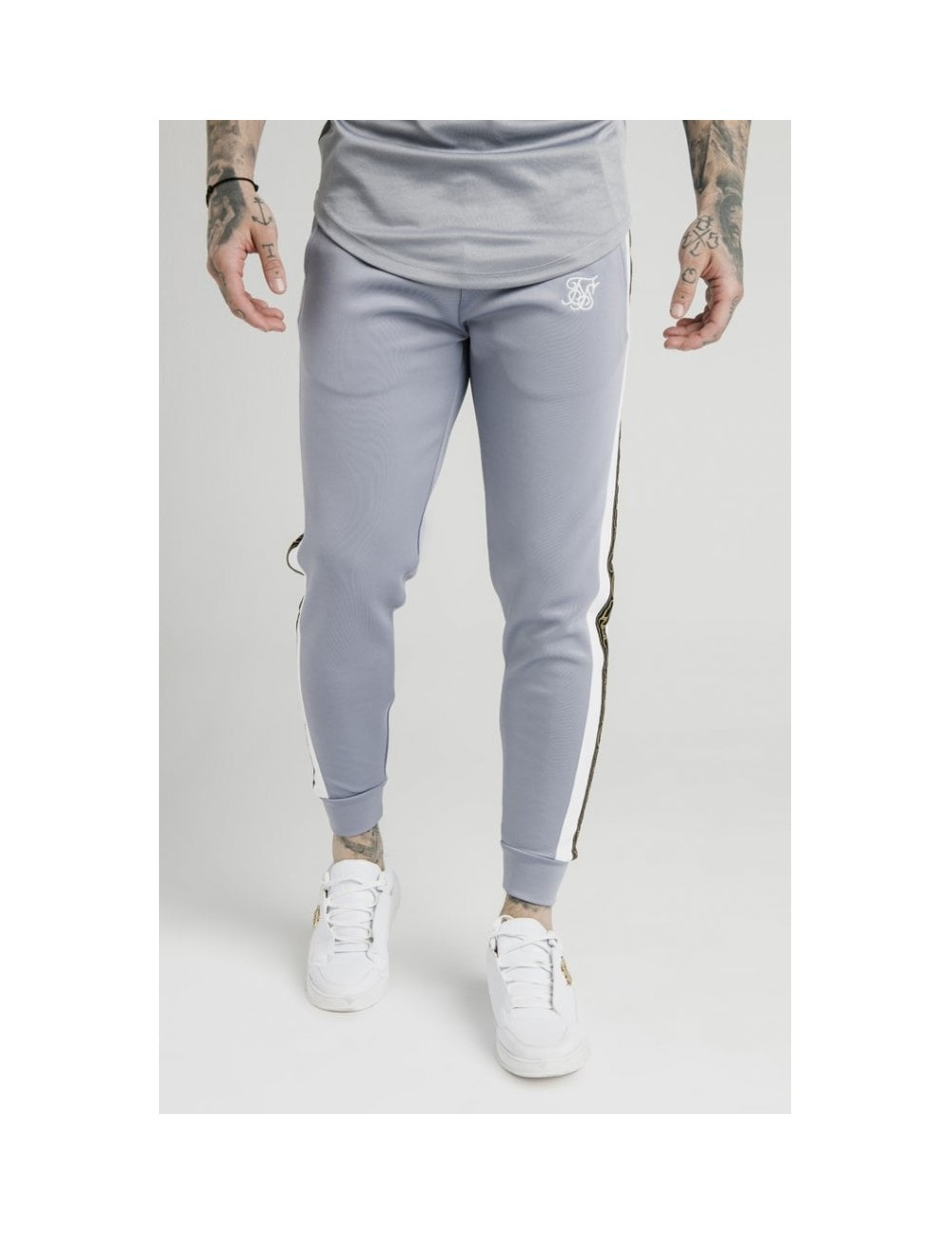 SIKSILK PANELLED RACER CUFFED JOGGERS