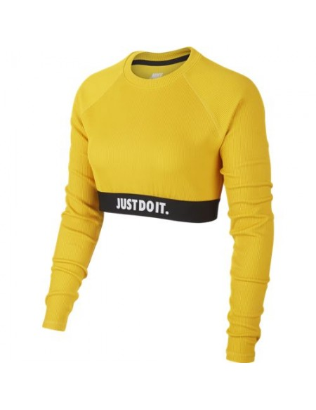 NIKE NSW TOP LS CROP JDI RIB