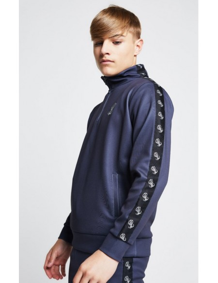 ILLUSIVE LONDON TAPE FUNNEL NECK 1/4 ZIP HOODIE
