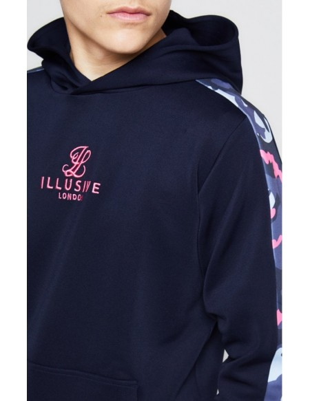 ILLUSIVE LONDON PANELLED OVERHEAD HOODIE