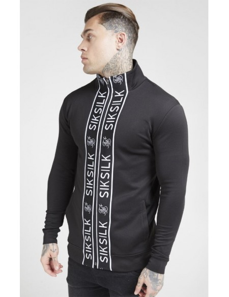 SIKSILK FUNNEL NACK ZIP THROUGH TRACK TOP