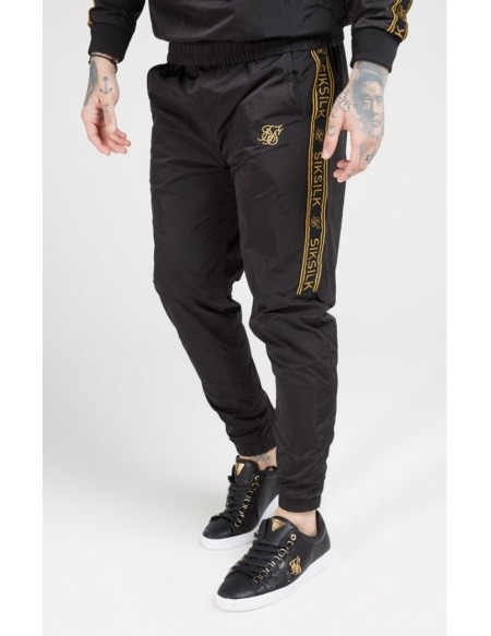 SIKSILK CRUSHED NYLON TAPED JOGGERS