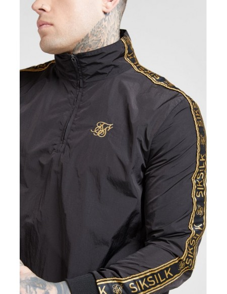 SIKSILK QUARTER ZIP FUNNEL NECK TRACK TOP