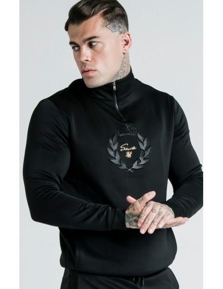 SIKSILK X DANI ALVES QUARTER ZIP PRESTIGE EMBOSSED TRACK TOP