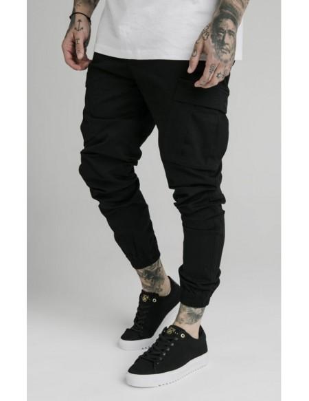 SIKSILK CARGO PANTS BLACK