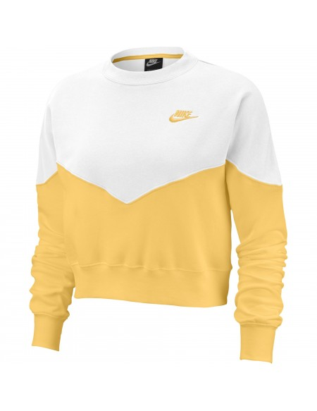 NIKE SPORTSWEAR CREW YELLOW/WHITE