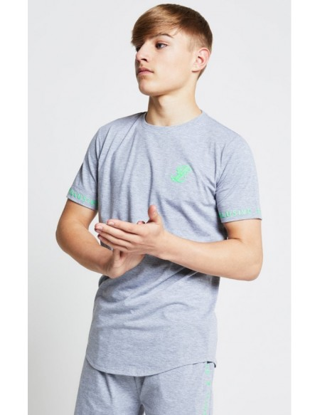 ILLUSIVE LONDON TEE GREY/NEON GREEN