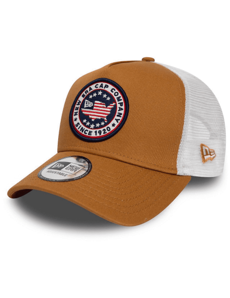 NEW ERA  USA PATCH BROWN SAND