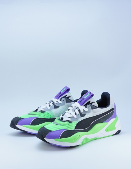 PUMA RS-2K INTERNET EXPLORING DARK SADOW-FLUO GREEN