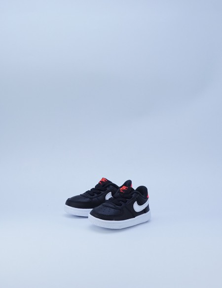 NIKE FORCE 1 CRIB BLACK/WHITE
