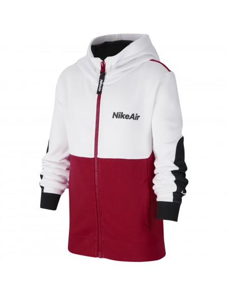 NIKE AIR HOODIE WHITE/UNIVERSITY RED/BLACK/BLACK