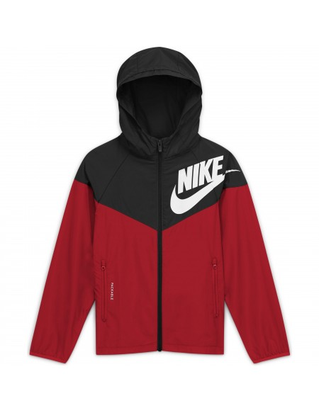 NIKE SPORTSWEAR WINDRUNNER RED/BLACK