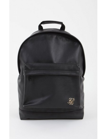SIKSILK GRAINED BACKPACK BLACK