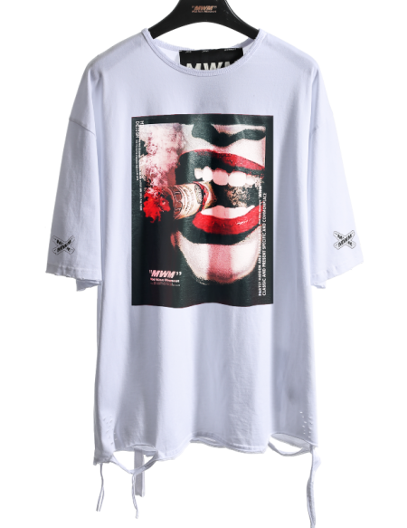 MOD WAVE MOVEMENT MW032021369 TSHIRT SMOKE WHITE