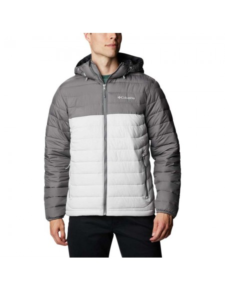 COLUMBIA POWDER LITE HOODED NIMBUS GREY
