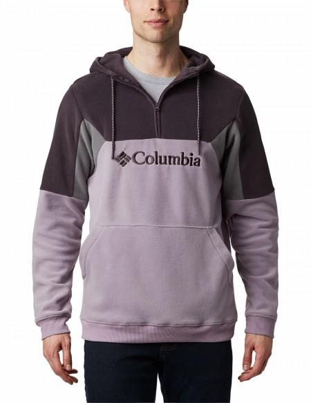 COLUMBIA LODGE II FLEECE HOODIE GREY