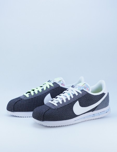 NIKE CORTEZ RECYCLED IRON GREY/WHITE-BARELY VOLT