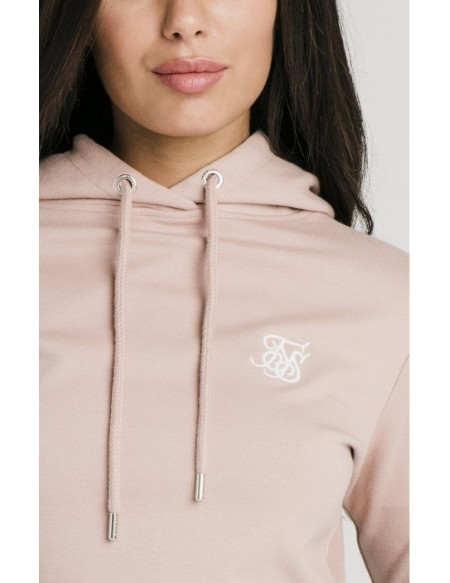 SIKSILK CARGO POCKET CROPPED HOODIE ROSE