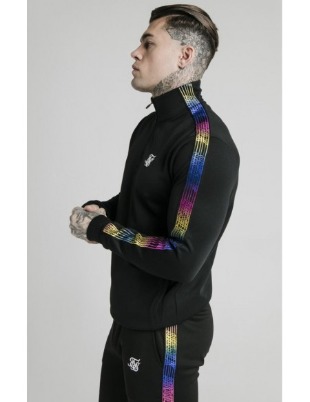 SIKSILK QUARTER ZIP FADE RUNNER FUNNEL NECK