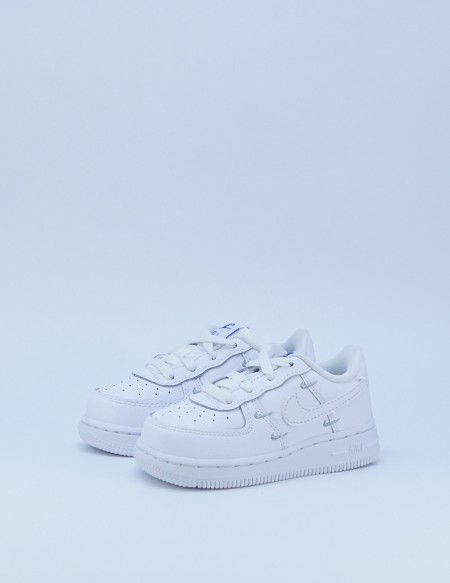 NIKE AIR FORCE 1 LV8 SWOOSH WHITE/METALLIC SILVER