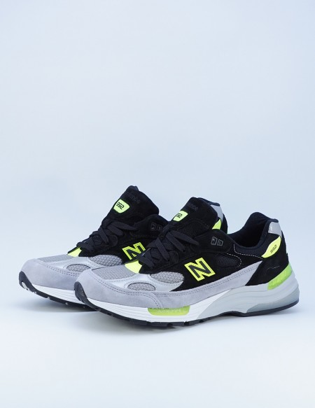 NEW BALANCE M 992TQ GREY/BLACK-GREEN