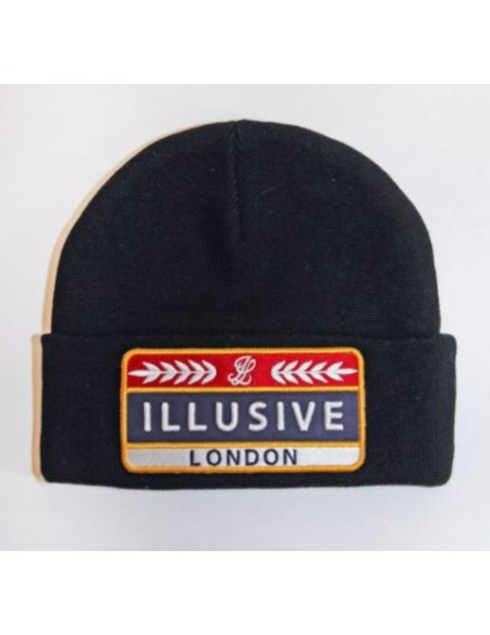 ILLUSIVE LONDON PATCH BEANIE BLACK