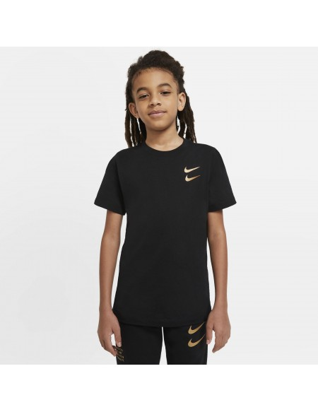 NIKE SPORTSWEAR T-SHIRT BLACK/ GOLD