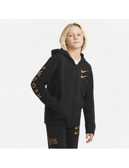 NIKE SPORTSWEAR SWOOSH BLACK/MTLLC GOLD