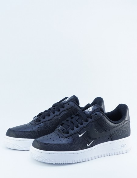 NIKE AIR FORCE 1 07' ESS BLACK/SLVR/WHITE
