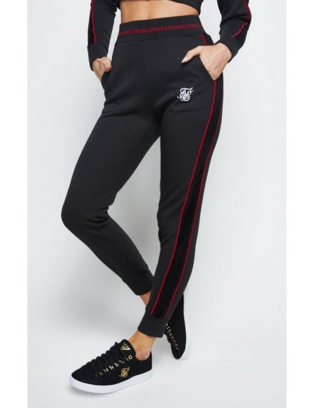SIKSILK W TAPPED JOGGER BLACK