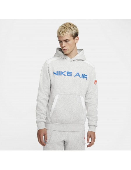 NIKE AIR PULLOVER FLEECE GREY HEATHER