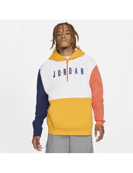 JORDAN JUMPMAN AIR HOODIE WHITE/UNVIVERSITY GOLD