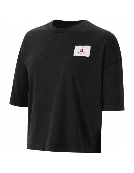 JORDAN ESSENTIAL CROP T-SHIRT BLACK