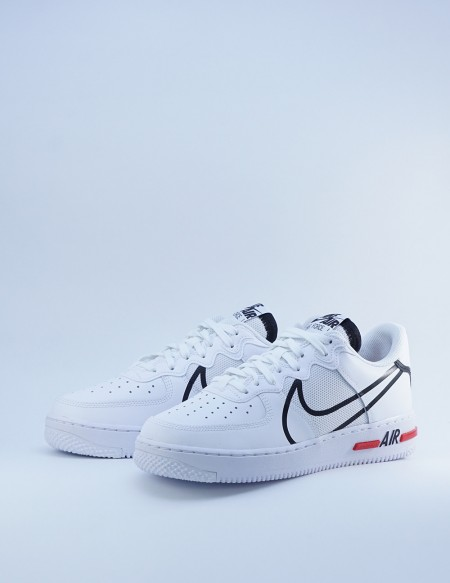 NIKE AIR FORCE 1 REACT WHITE BLUE-RED