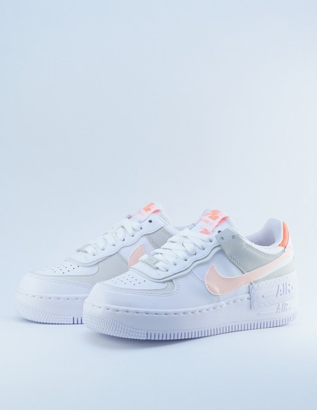 NIKE AIR FORCE 1 SHADOW WHITE/CRIMSON TINT-BRIGHT MANGO