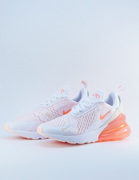 NIKE AIR MAX 270 WHITE/BRIGHT MANGO-CRIMSON TINT