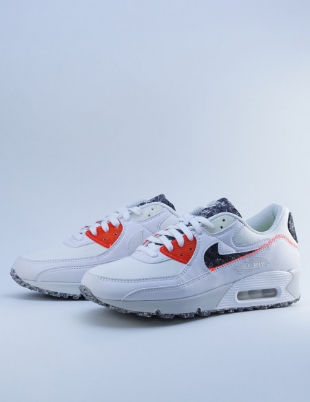 NIKE AIR MAX 90 WHITE/PHOTON DUST-BRIGHT CRIMSON