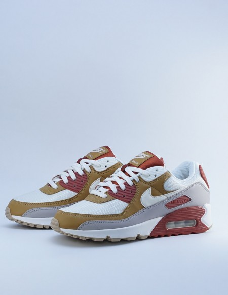 NIKE AIR MAX 90 RUGGED ORANGE/SAIL-WHEAT-GUM LIGHT BROWN