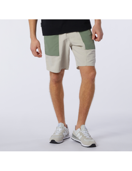 NEW BALANCE ALL TERRAIN SHORT GREY/GREEN