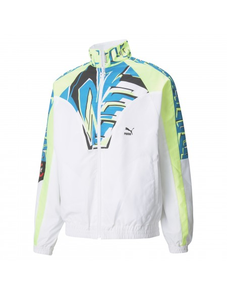 PUMA OG DISC TRACK JACKET WHITE/GREEN