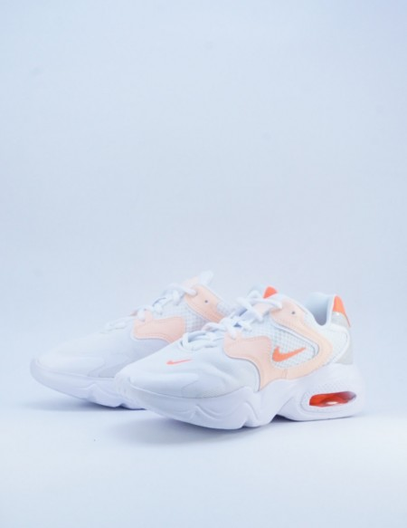 NIKE AIR MAX 2X WHITE/BRIGHT MANGO-CRIMSON TINT