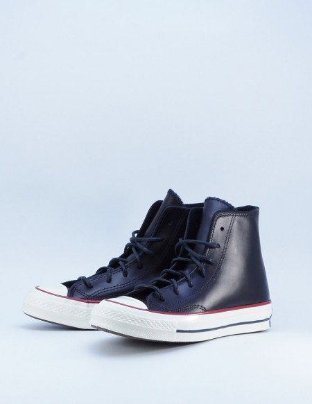 CONVERSE CHUCK TAYLOR ALL STAR 70' BLACK LEATHER/BLACK/EGRET
