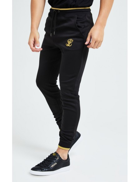 ILLUSIVE LONDON SOVEREING JOGGERS NEGRO/ORO