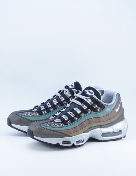 NIKE AIR MAX 95 PREMIUM BLACK/METALLIC SILVER-GAME ROYAL