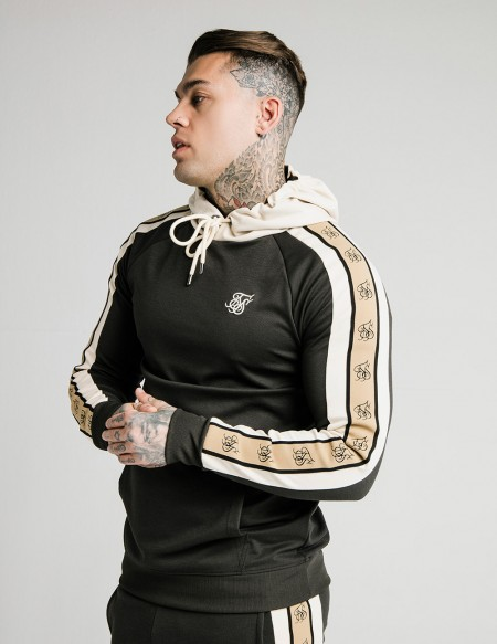 SIKSILK PREMIUM TAPE OVERHEAD HOODIE BLACK/GOLD