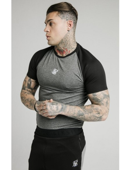 SIKSILK ENDURANCE GYM TEE BLACK GREY