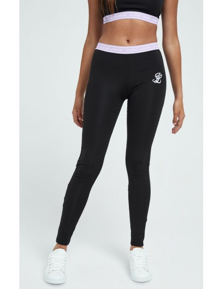 ILLUSIVE LONDON TAPE LEGGINGS BLACK