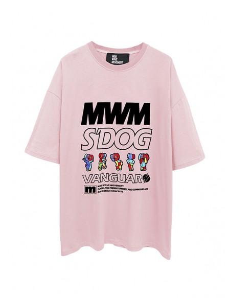 MOD WAVE MOVEMENT MW032022446 PINK T-SHIRT