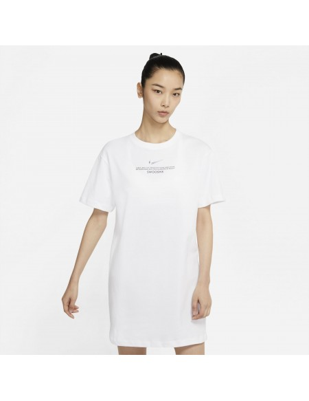 NIKE SPORTSWEAR SWOOSH DRESS WHITE/BLACK